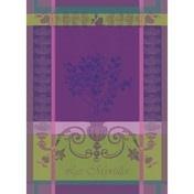"""Garner-Thiebaut Myrtilles Violet Kitchen Towel 22"""" x 30"""""""