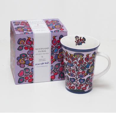 Oscardo Norval Morrisseau Woodland Floral Porcelain Mug