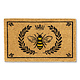 Abbott Doormat - Bee in Crest