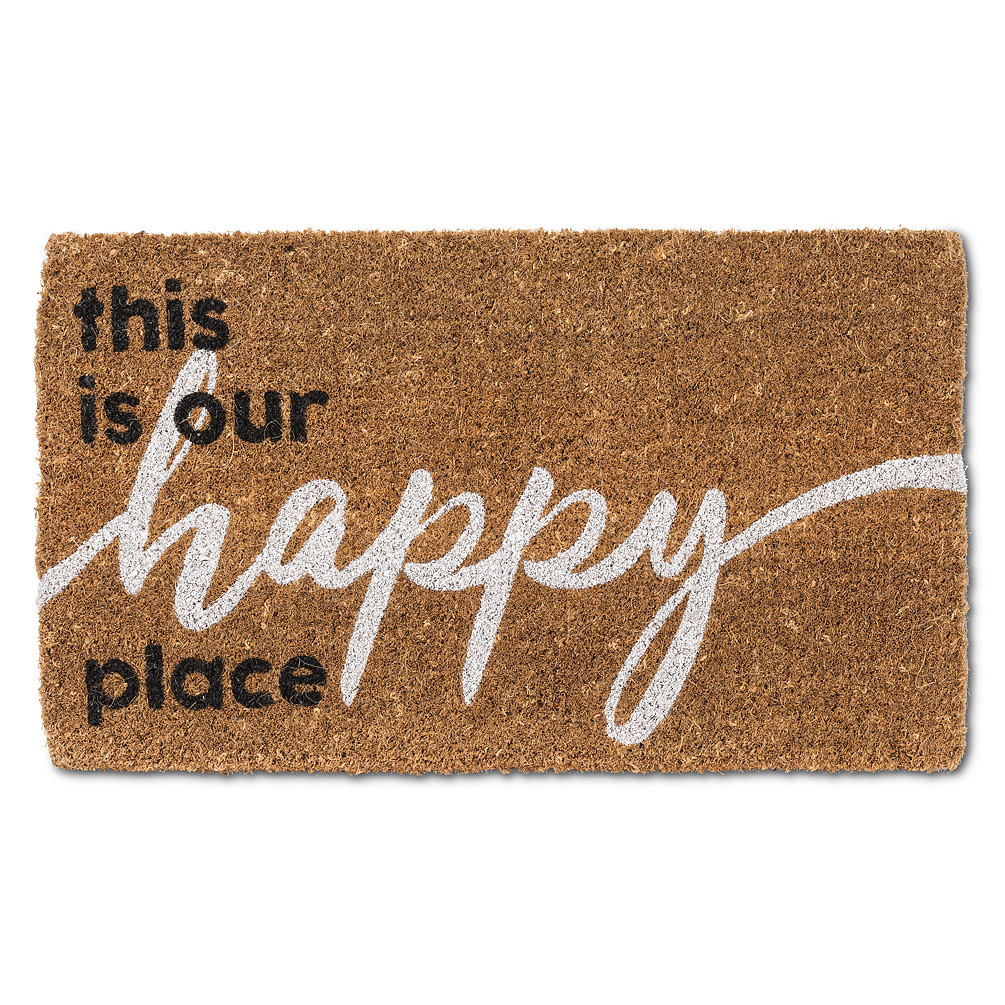 Abbott Doormat - Graphic Happy Place