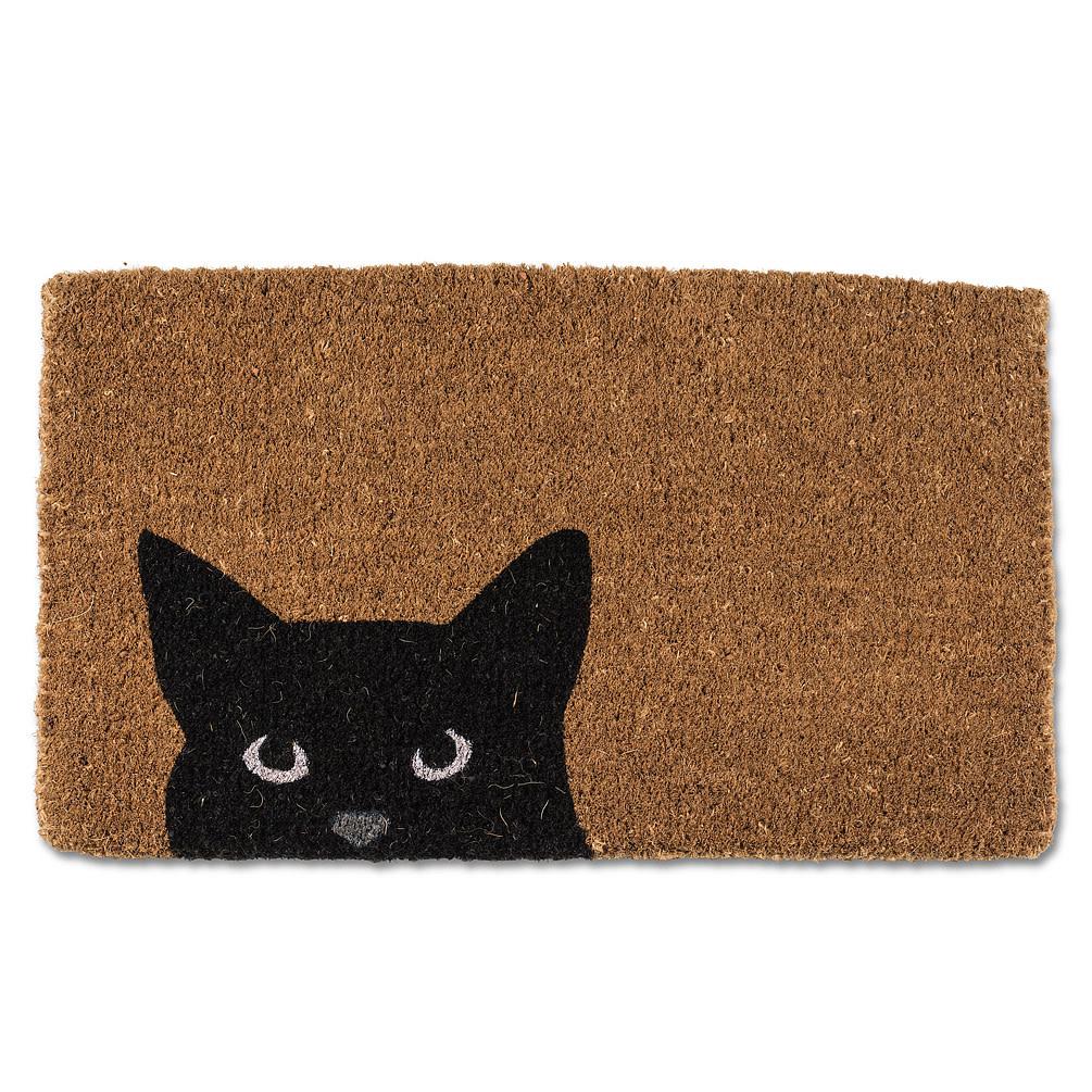 Abbott Doormat - Peeking Cat