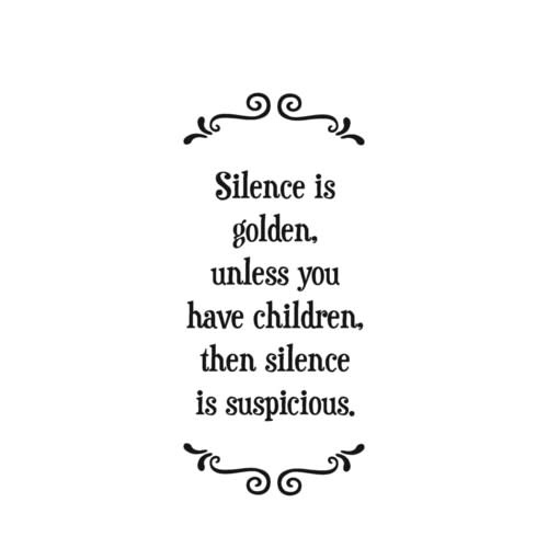 Kitchen Towel: Suspicious Silence