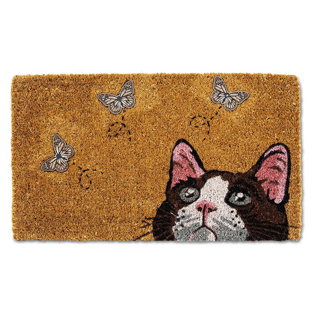 Abbott Doormat - Cat w/ Butterflies