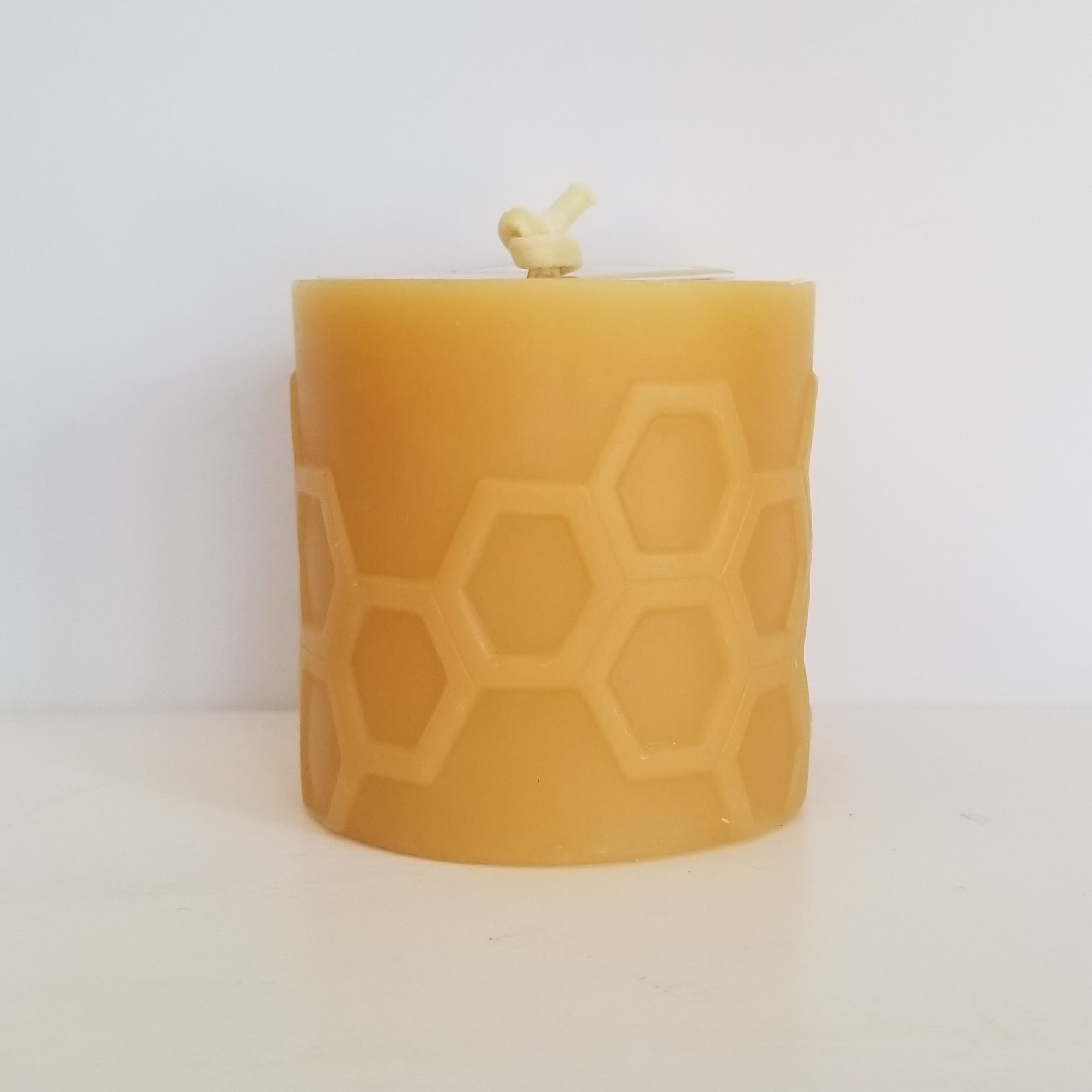 Bees Wax Works Beeswax Hex 3.0 Pillar Candle 35-45