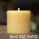 Bees Wax Works Beeswax Pillar Candle - 3 Inch by 3 Inch 35-45