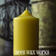 Bees Wax Works Beeswax Pillar Candle - 3 Inch 18-20