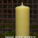 Bees Wax Works Beeswax Pillar Candle - 5 Inch 40-45