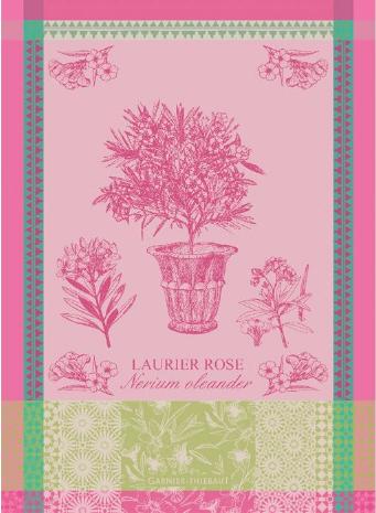 Garner-Thiebaut Laurier en Pot Rose Kitchen Towel