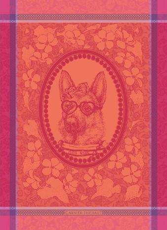 Garner-Thiebaut Madame Chien Rose Kitchen Towel
