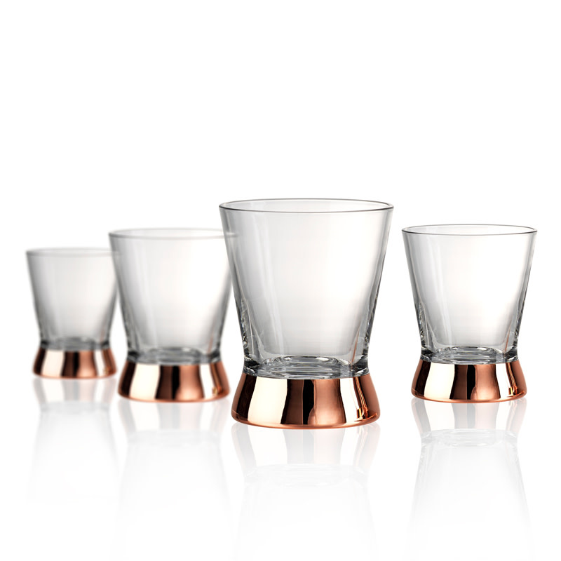 Coppertino D.O.F. Glasses Set/4, 15oz