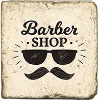 Barbershop D - Marble Coaster