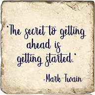 Inspirational Quote Twain - Marble Coaster