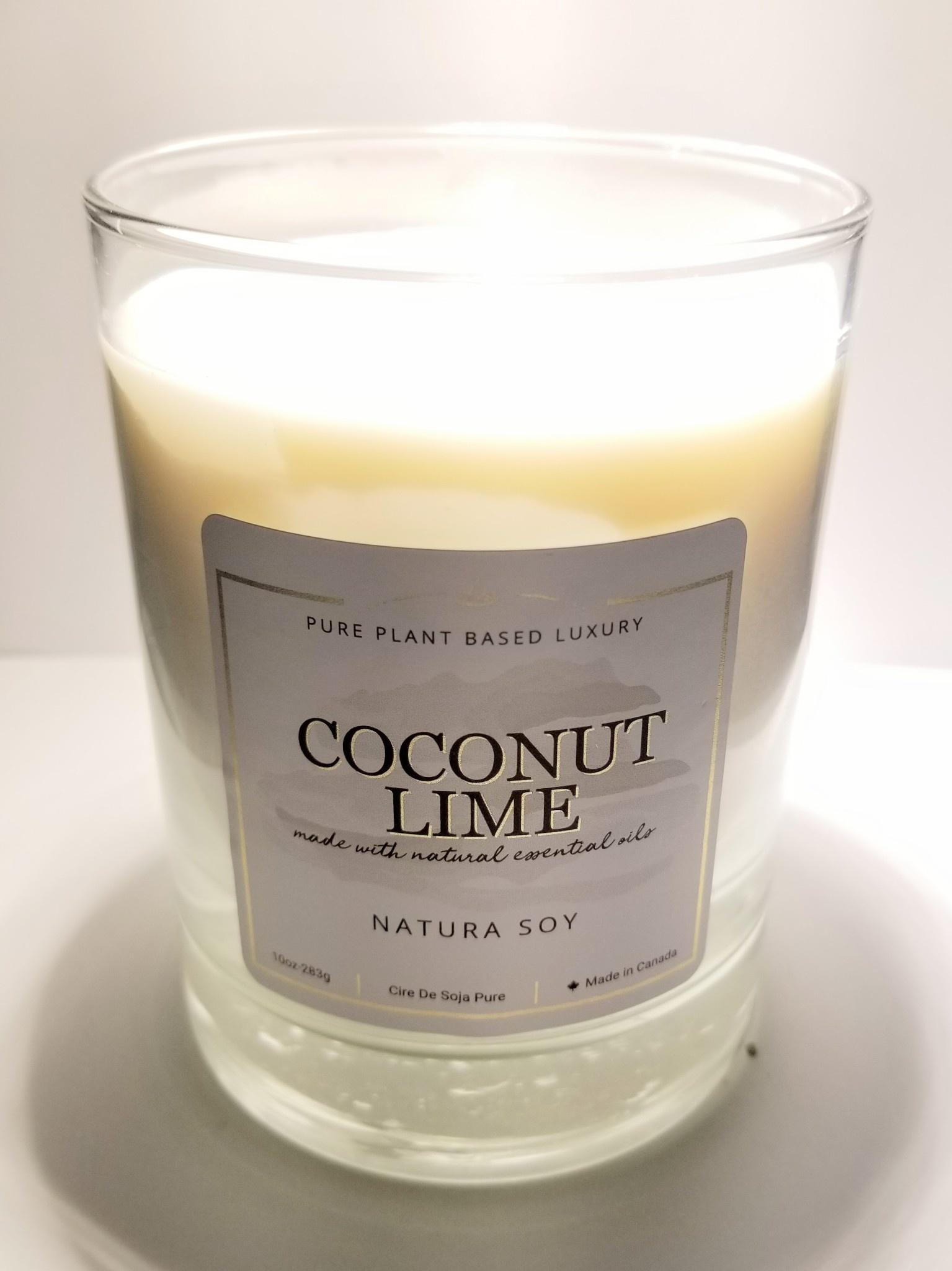 Natura Soy Tumbler Jar: Coconut Lime