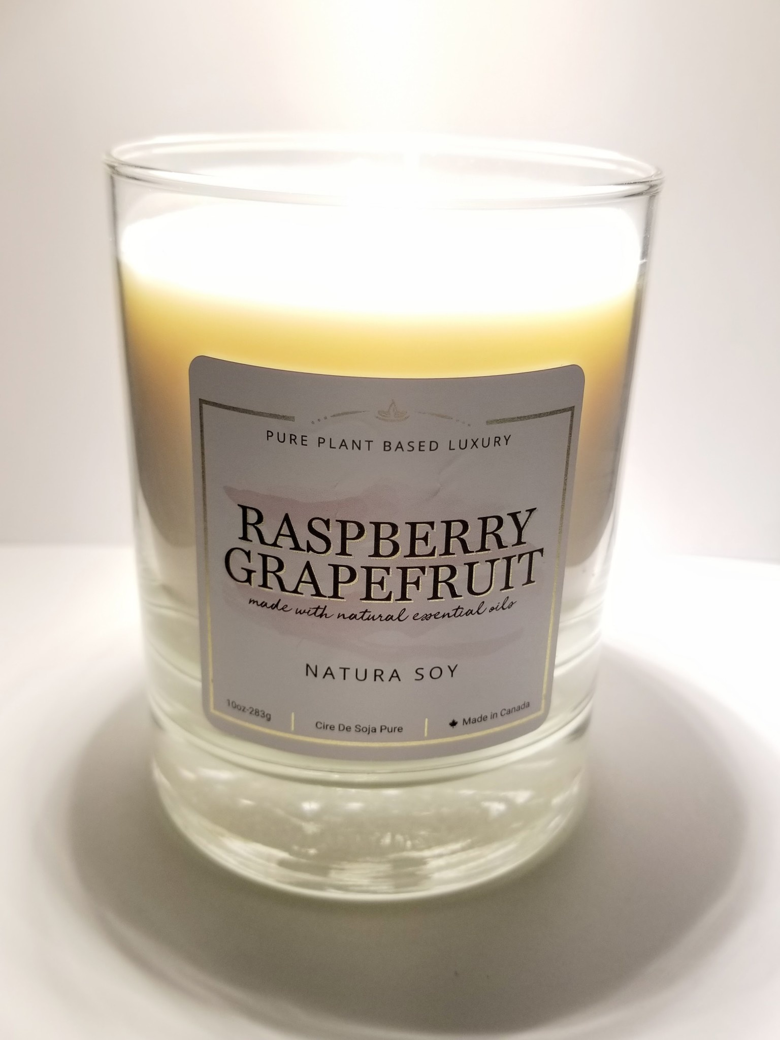 Natura Soy Tumbler Jar: Raspberry Grapefruit