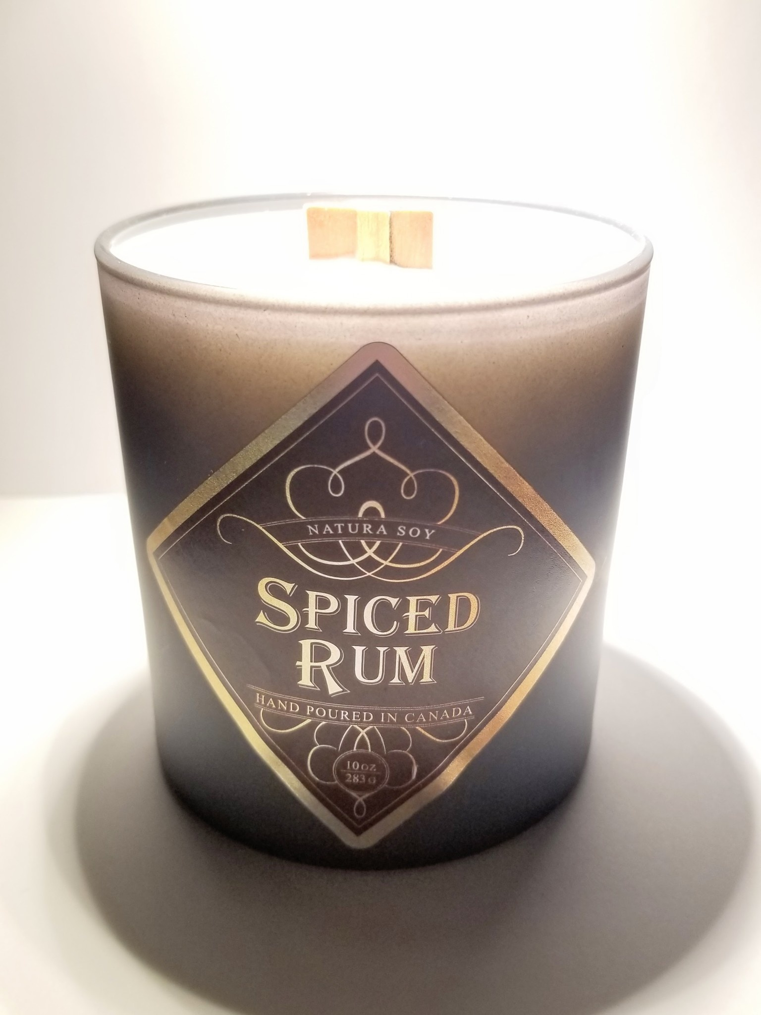 Natura Soy Man Candle: Spiced Rum
