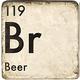 Beer - Marble Coaster