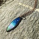 """Aflame Creations Necklace 18"""" Chain - Atlantic Waters Blue/Green"""