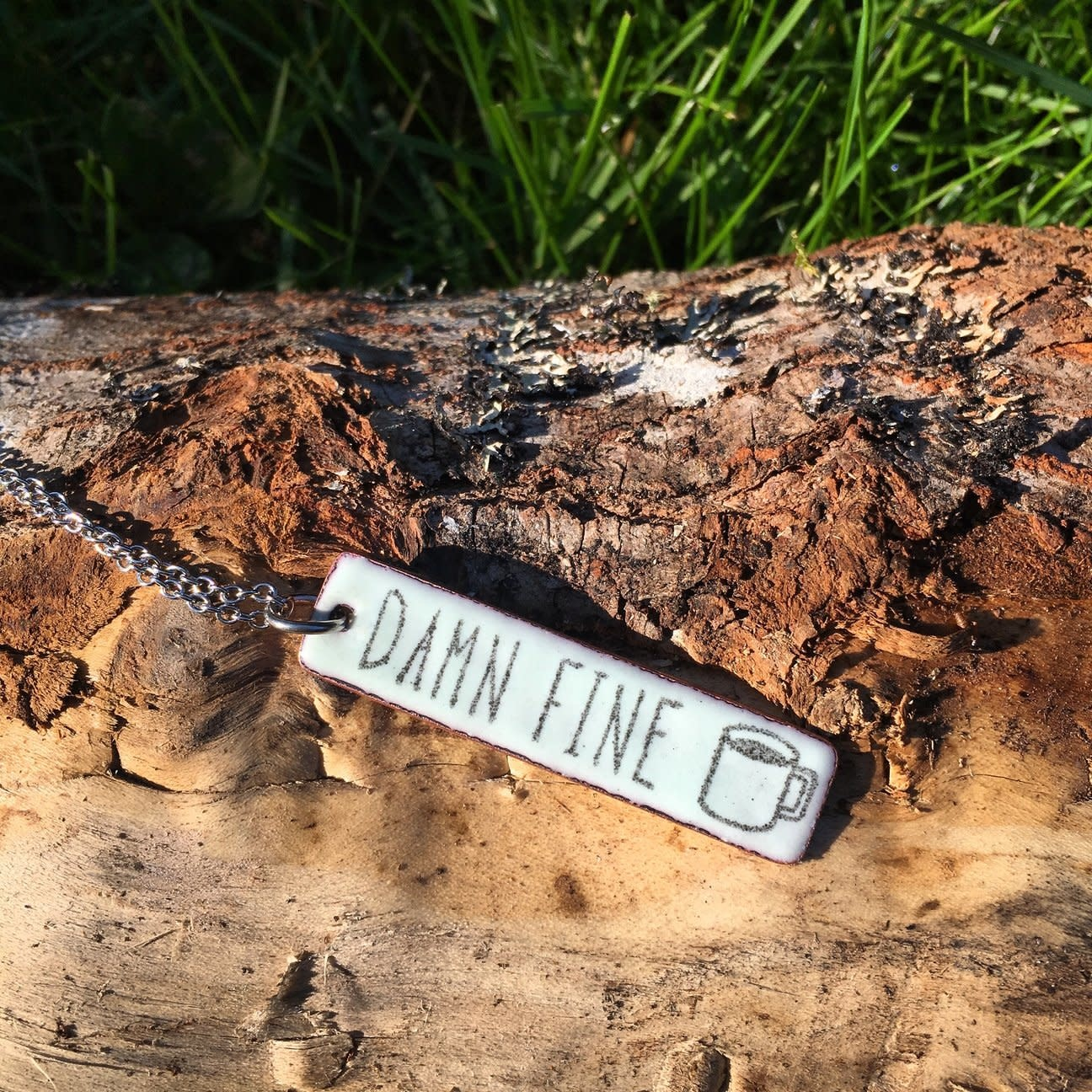 """Aflame Creations Necklace 18"""" Chain - Damn Fine Coffee"""