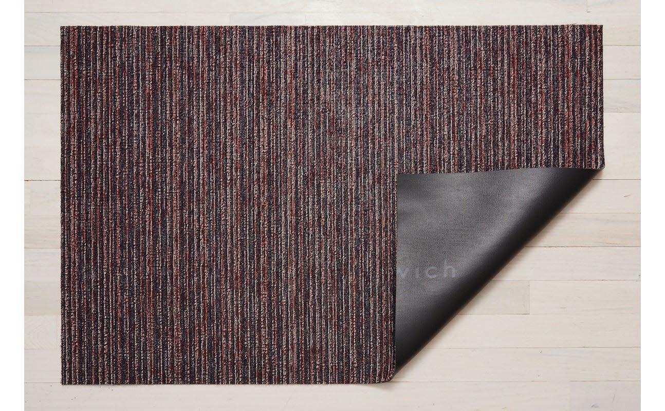 Chilewich Big Mat 36x60: Shag Skinny Stripe MULBERRY