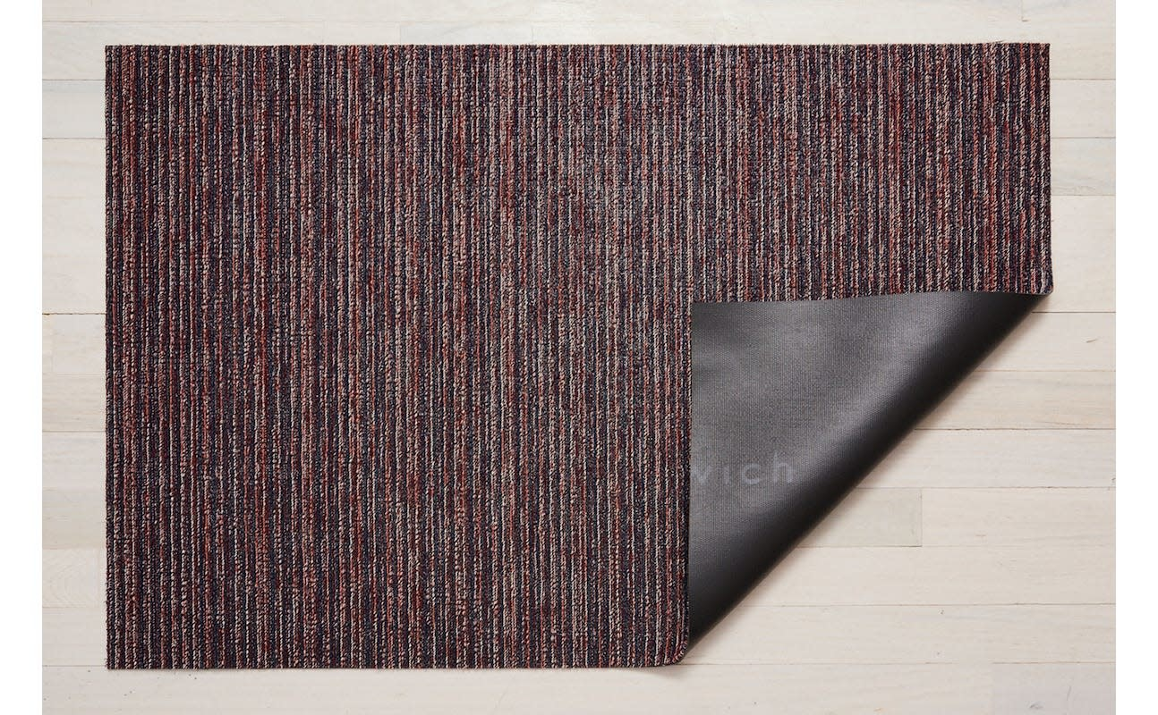 Chilewich Doormat 18x28: Skinny Stripe MULBERRY