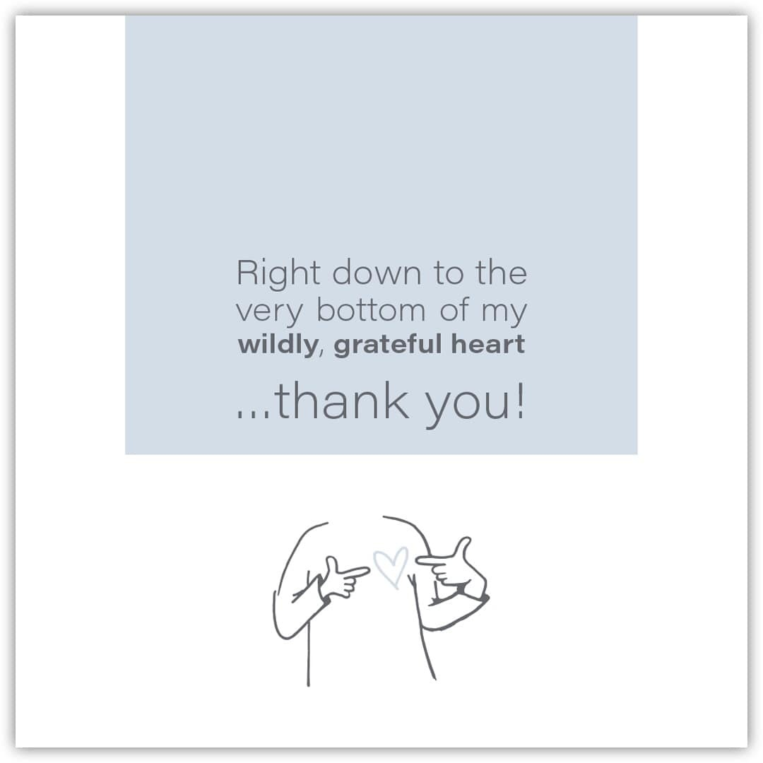 Wild Heart Studios Wild Heart Studio Card: Wildly Grateful Heart