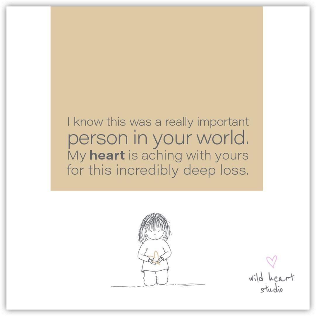 Wild Heart Studios Wild Heart Studio Card: Person in your world