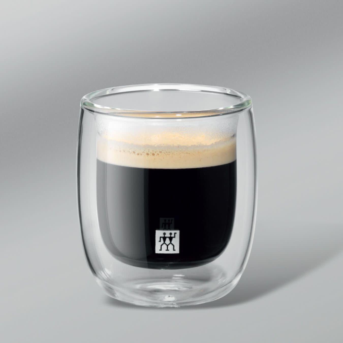 Zwilling Sorrento 2 Piece Double-wall Espresso Glass Set
