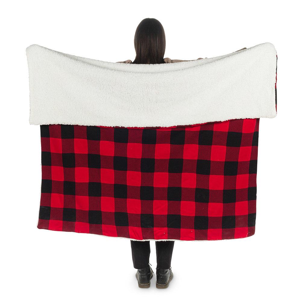 "Abbott Fleece Buffalo Check Blanket 2 Sided 50"" x 60"""