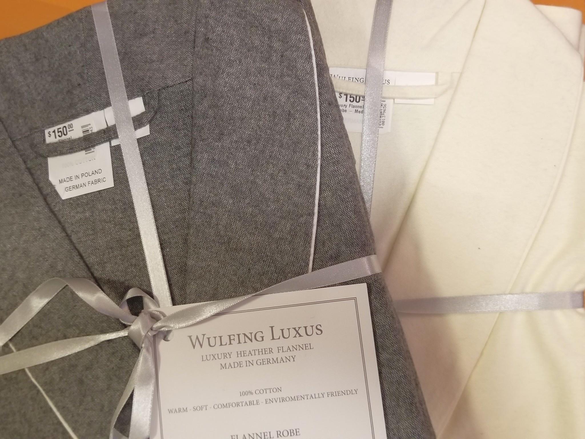 Ivory Flannel Robe - Medium