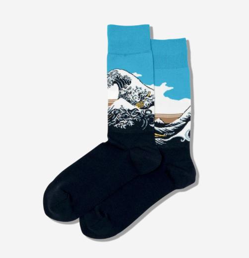 Hot Sox Mens Socks: Great Wave