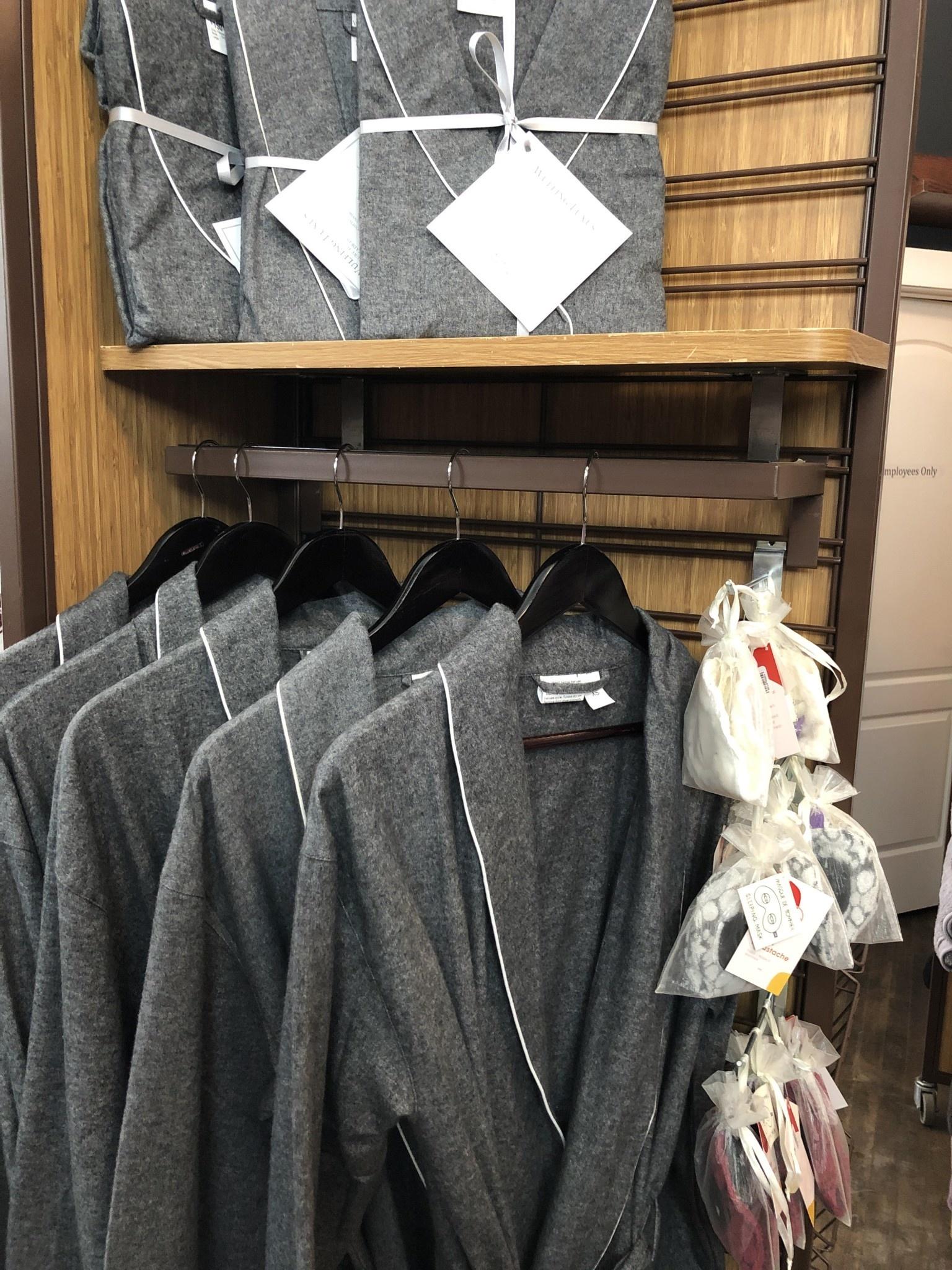 Grey Flannel Robe - Medium