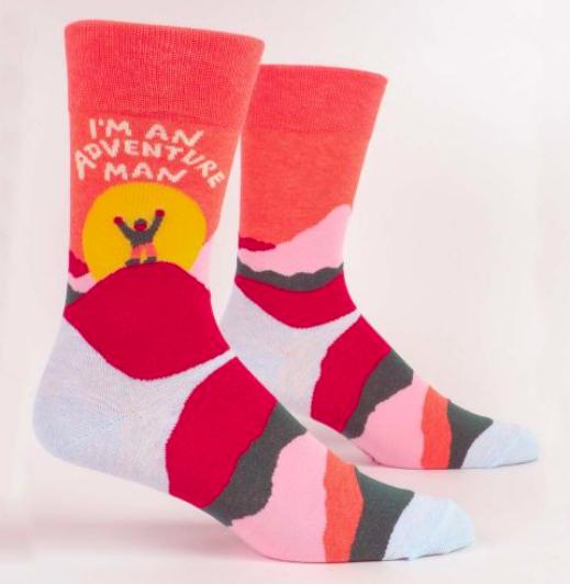 Blue Q Men's Socks: Adventure Man