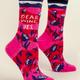 Blue Q Women's Crew Socks: Dear Wine, Yes