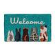 """Abbott Doormat - Cat """"Welcome"""""""