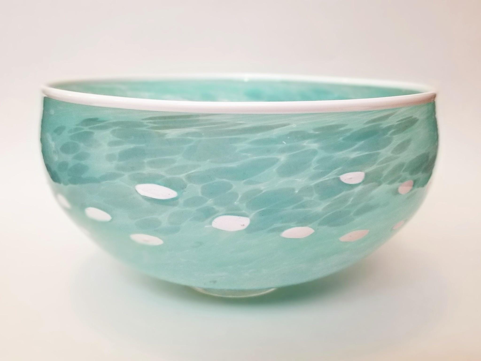 Sparrow Glassworks Large Light Blue Murrini Bowl
