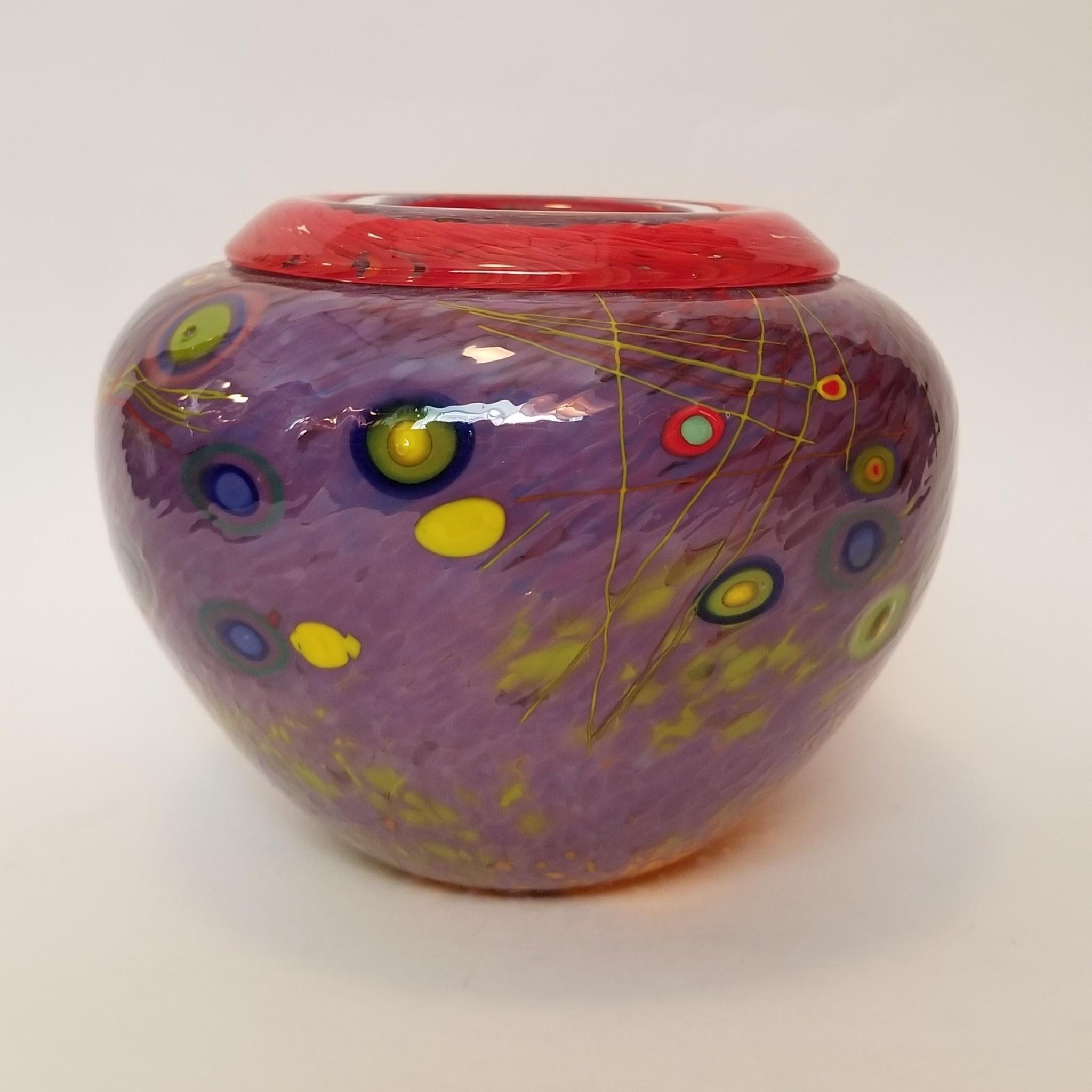 Sparrow Glassworks Folded Rim Vase