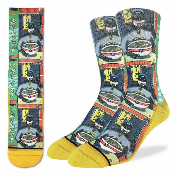 Good Luck Sock Mens Socks: Batman & Ramen