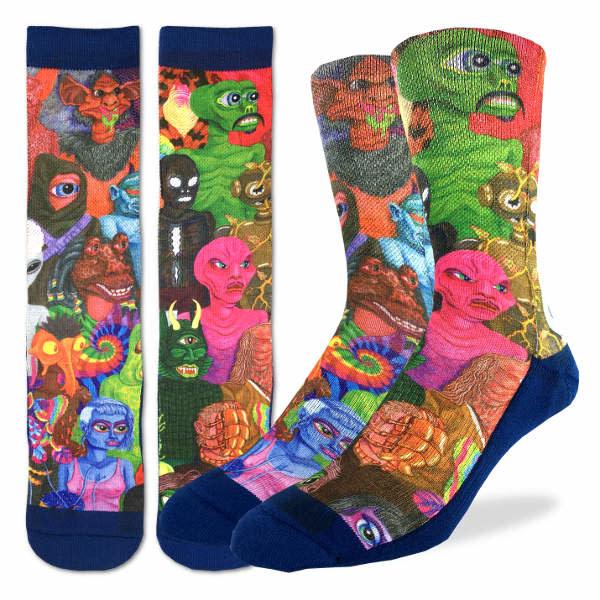 Good Luck Sock Mens Socks: Aliens