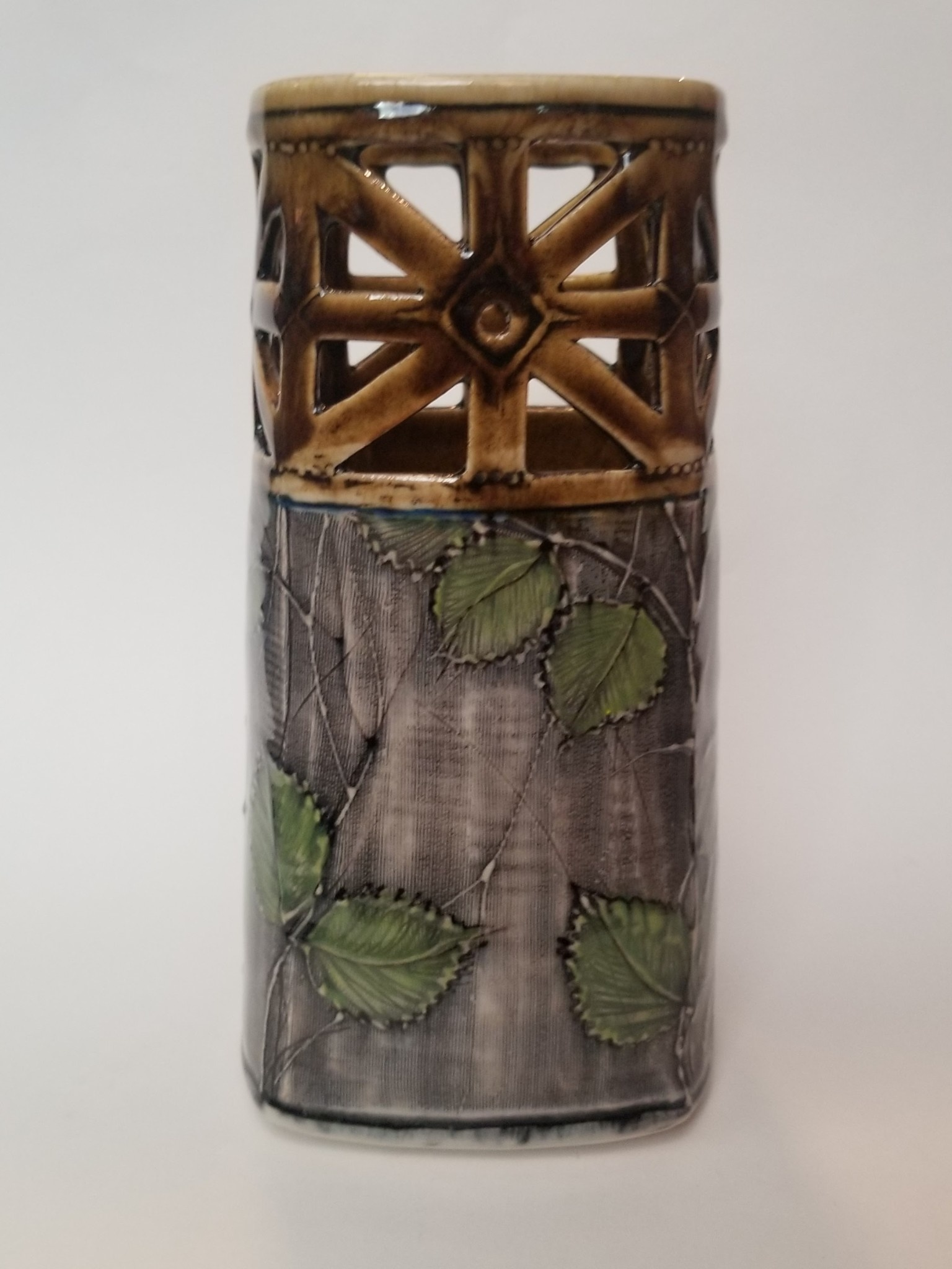 Little Sister Pottery Little Sister Pottery - Square Pierced Vase