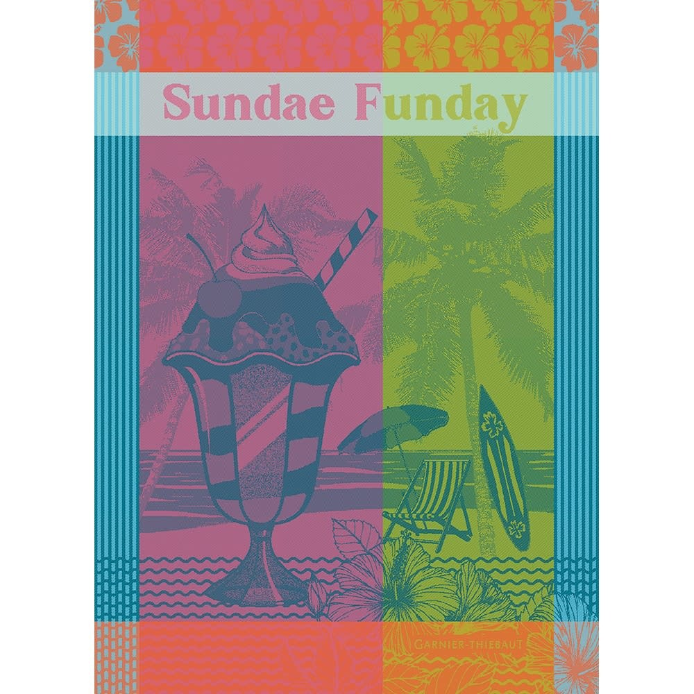 Garner-Thiebaut Sundae Funday Fruity Kitchen Towel