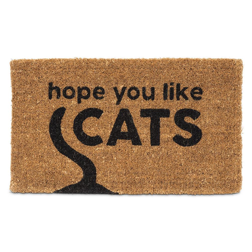 Abbott Doormat - Hope You Like Cats