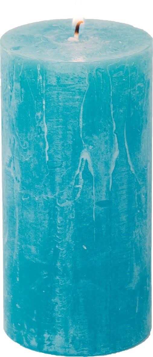 "Carsim Trading Inc Pillar Candle 5.5"" - Turquoise"