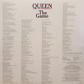 Queen ‎– The Game LP