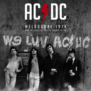 AC/DC -- Melbourne 1974 And The Best Of The TV Shows 76-78 LP clear vinyl