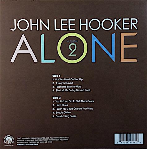 John Lee Hooker -- Alone (Volume 2) LP