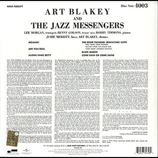 Art Blakey And The Jazz Messengers – Moanin' LP