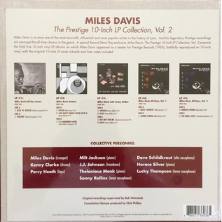 Miles Davis -- The Prestige 10'' Collection Volume Two