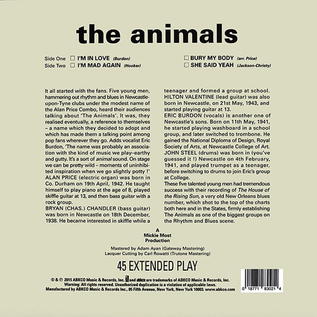 Animals -- The Animals 10'' vinyl