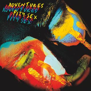 "Adventures & Pity Sex – Split 7"" red/blue vinyl"