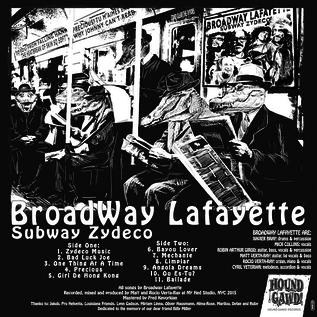 Broadway Lafayette -- Subway Zydeco LP